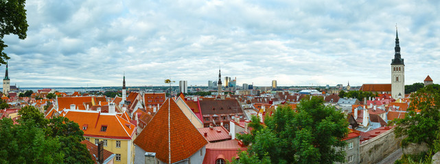 Tallinn City summer panorama.