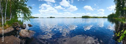 Lake Rutajarvi summer panorama (Finland). - 67428186