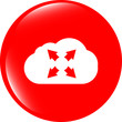 abstract cloud set icon. Upload button. Load symbol