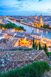 canvas print picture - Verona am Abend