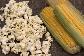 Popcorn and sweet corn
