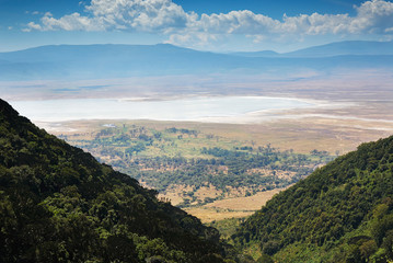 view of the Ngorongoro crater