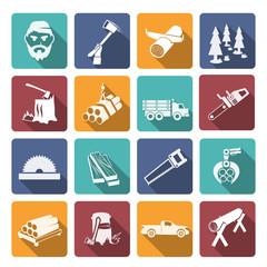 Lumberjack Woodcutter Icons