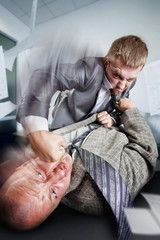 Business fight in the office