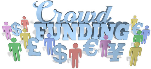 Crowdfunding people invest global business startup project