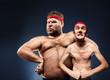 Leinwandbild Motiv Funny body builders