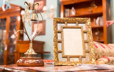 Photo frame in luxury interior
