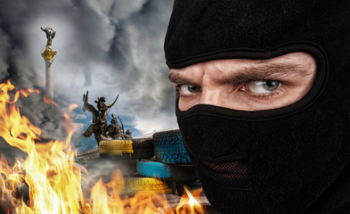 Terrorist on Ukrainian Maidan