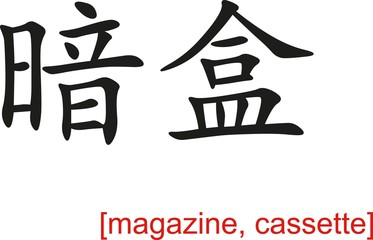 Chinese Sign for magazine, cassette