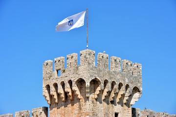 Kamerlengo castle in Trogir, Croatia. - architectural details