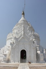 Hsinbyume Paya, the White Pagoda in Myanmar