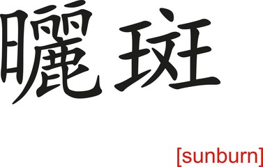 Chinese Sign for sunburn