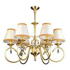Vintage chandelier isolated on white with clipping path