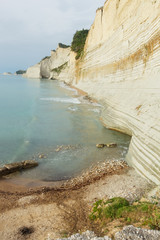 Logas beach at Peroulades village at Corfu island, Greece