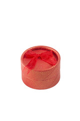 Red ring box, gift box, isolated