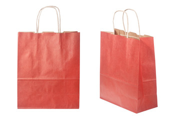 Shopping paper bag, isolated