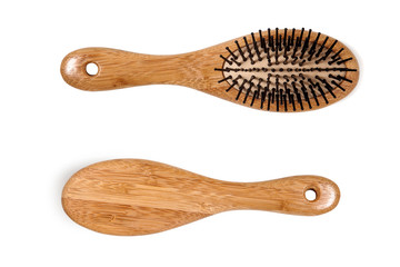 Wooden Hair Comb, isolated