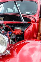 1940's restored red ford classic sedan