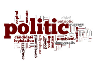 Politic word cloud