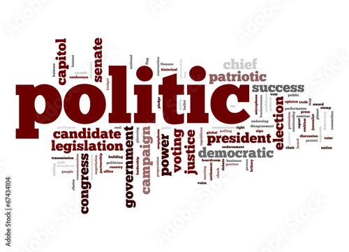 Leinwandbild Motiv Politic word cloud