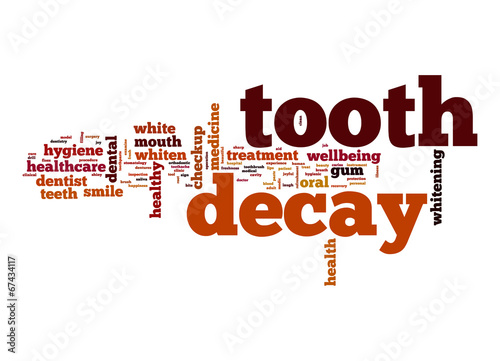 canvas print picture Tooth decay word cloud