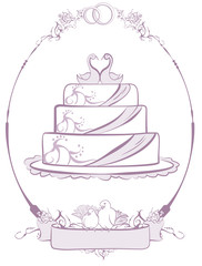 Wedding Cake in frame