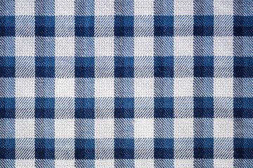 blue gingham cloth closeup