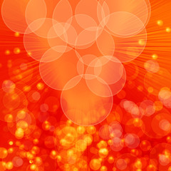 orange light and circles abstract background