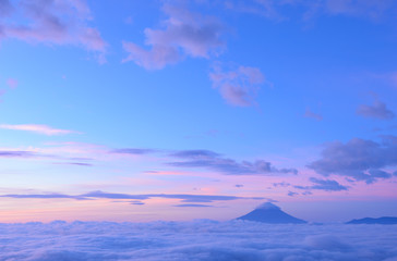 Sea of Clouds and the Mt. Fuji