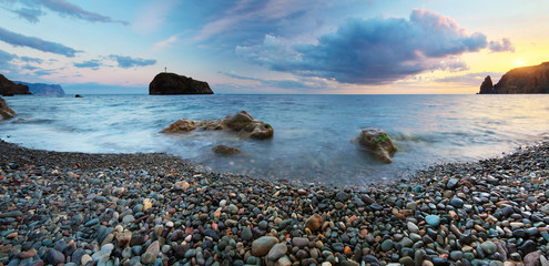 Beautiful seascape panorama