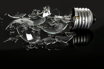 smashed light bulb