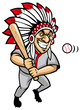 indian chief baseball mascot