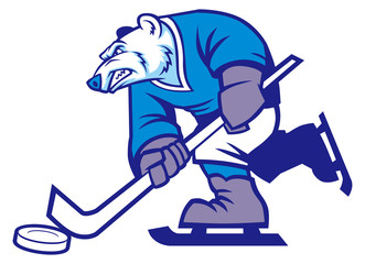 ice hockey polar bear mascot