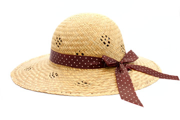 Feminine women's straw hat