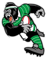 rugby gorilla mascot