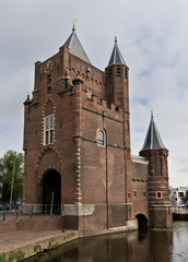 Old fortress tower in Haarlem