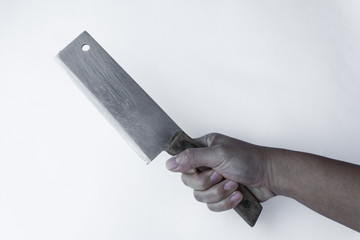 Chopping knife in hand