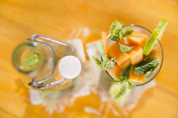 Mint and melon appetizer