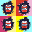 Постер, плакат: painting in the style of Andy Warhol