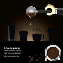 Coffee brew  Background