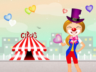 clown in the circus