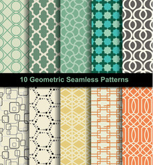 set seamless pattern retro