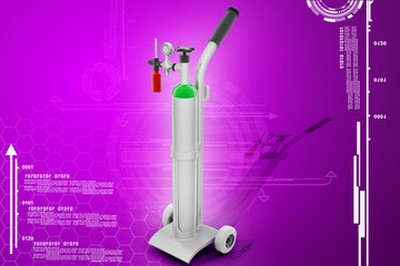 Digital illustration of oxygen cylinder