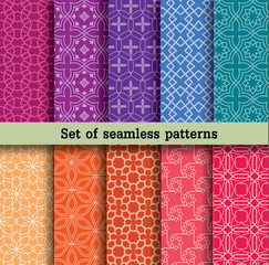 set of seamless patterns.Used for wallpaper, print, pattern