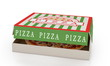 canvas print picture - Pizza in box isolated
