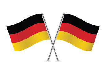 Germany flags. Vector illustration.