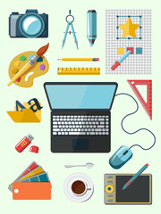 Designer workplace icons