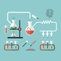 Chemistry research infographic sketch