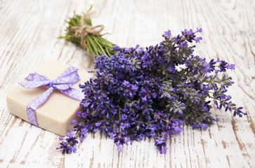 Lavender and soap with natural ingredients