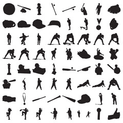 Many Baseball Silhouettes (part 1)